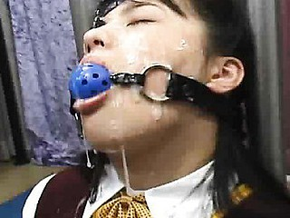 Compilation of Oriental chicks bound up and ball gagged. They engulf dicks and acquire smutty cumshots on their cute faces.