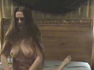 She has realy beautiful lengthy hair and full breasts. Riding a cock is her morning sport and her horse likes the morningtrip.