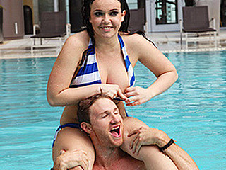 Brazzers spends a lethargic day with Emma heart as this playgirl hangs out by the pool. This Babe hops in the jacuzzi and the sauna with Levi Specie previous to they engage in some coitus.