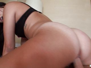 Busty dark brown with sexy large fuckable wazoo getting rammed in her tight little cookie by a hard cock .Watch her beautiful wazoo moving around satisfying herself. She looks like she could do this all day long.In the..
