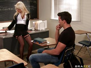 Ramon is taking French, but it's boring for him, and he's not learning much. Helly Hellfire has never had a student fail this year, and she's not going to have one fail her now. She tries a strip quiz, where if he gets a..
