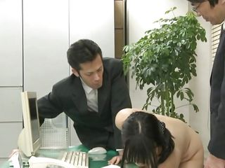 Did Megumi ever think that this could happen to her at the office? She trusted her coworkers but they had a plan with her hot gazoo from the beginning. Now the Nippon playgirl is in big trouble and that babe knows it. At 1st that babe is asked to undress and then bend over, showing her holes. Then that babe gets fucked.