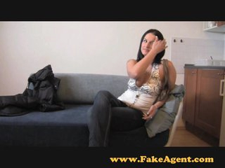 FakeAgent Horny non-professional gives saucy tit wank