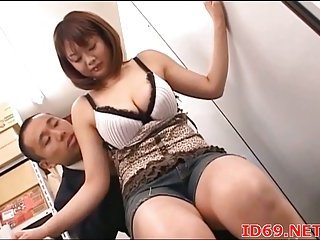 Japanese breasty model titsjob