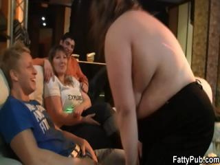 Fatties have fun in the pub