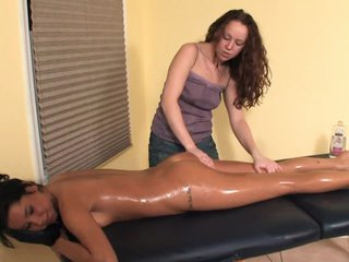 Lesbian Oil Massage - With a Oops (Fart Slip) - Cireman