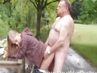 Cute angel fucked by old bawdy man