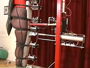 Slave testing the new torture machine!