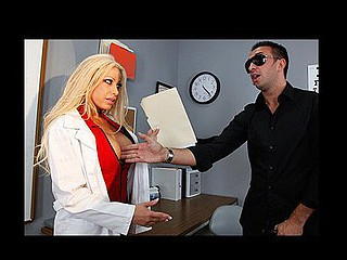 Optometrist Gina gets a patient who claims his job is causing him to go blind. This Babe tries some additional peculiar tests to determine that that guy's solely faking his blindness in order to get workman's compensation. But Gina is ready to aid him out with his little scam if this chab helps her out with a dose of unfathomable dicking!