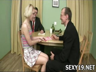 Sex-starved charming girl moans