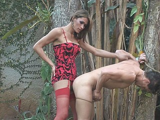 Supplementary-hung dick-angel having outdoor adventure poking guy
