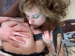 Sissified guy getting used like an arse whore by his dominative girlfriend