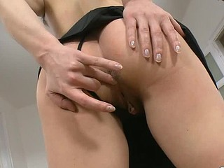 Renata is cute shaggy blond who likes to have fun. As this honey is very desirous to have some sex and thereЄ??s nobody near to assist her, that honey strips and then sticks valuable diminutive marital-device in her..